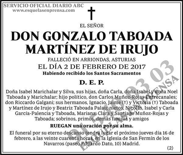 Gonzalo Taboada Martínez de Irujo